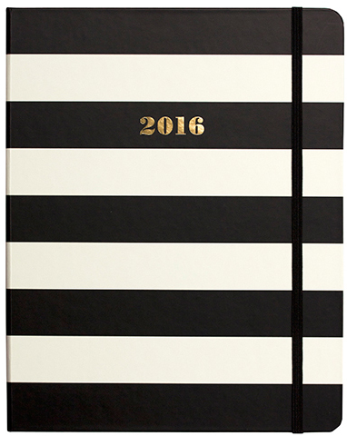 Kate Spade New York Black Stripe Planner