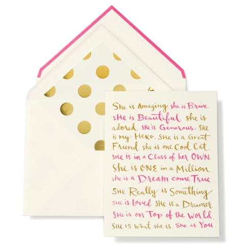 Kate Spade New York She Is... Card