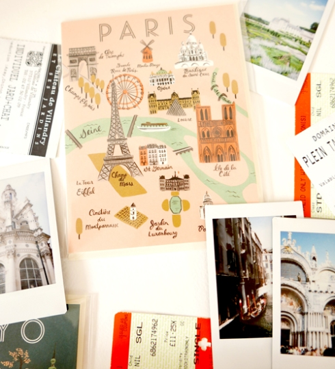 Rifle Paper Co. Paris Map Card