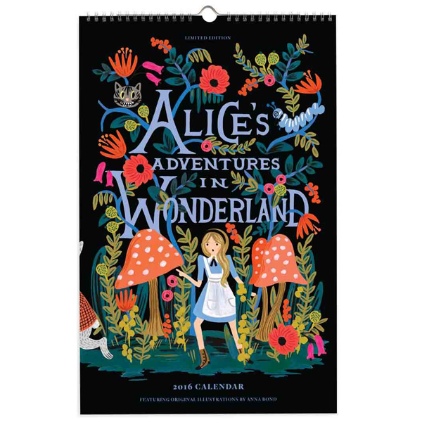Rifle Paper Co. Alice in Wonderland Wall Calendar