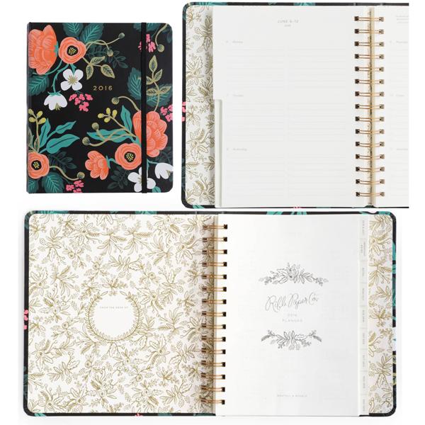 2016 Birch Floral Planner